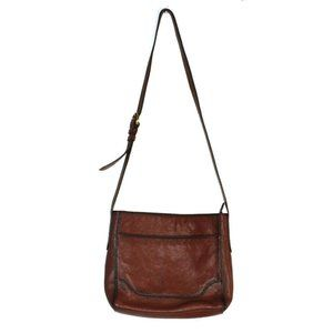 Frye Cognac Brown Leather Messenger Crossbody NWT